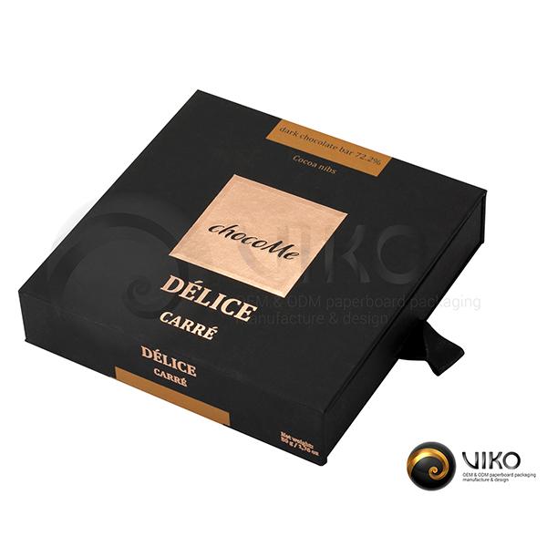 """Картонная упаковка для конфет """"chocoMe"""" 120*120*30 мм"""