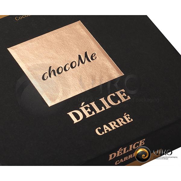 """Картонная упаковка для конфет / Для конфет / Картонная упаковка для конфет """"chocoMe"""" 120*120*30 мм"""