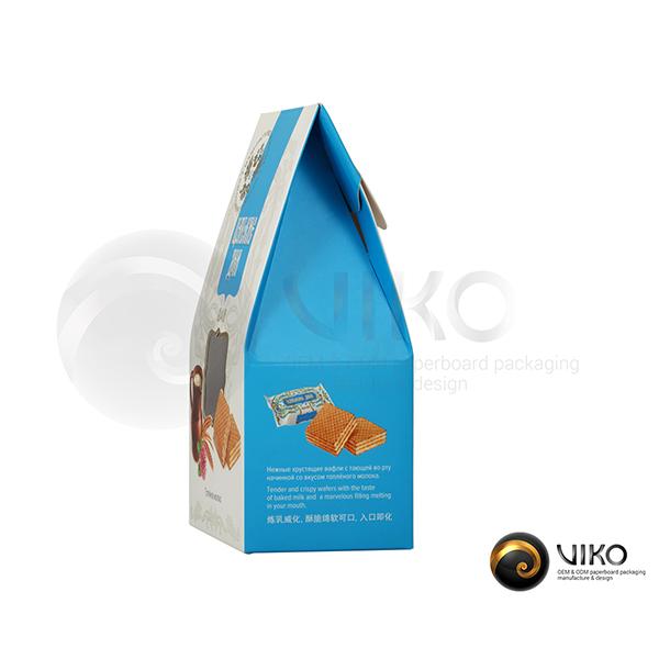 """Картонная упаковка для печенья / Для печенья / Картонная упаковка для вафель """"Царские дни"""" 165*115*65 мм"""
