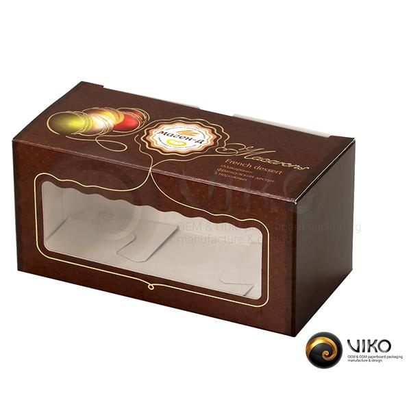 """Картонная упаковка для печенья / Для печенья / Картонная упаковка для макарунс """"Маген-д"""""""