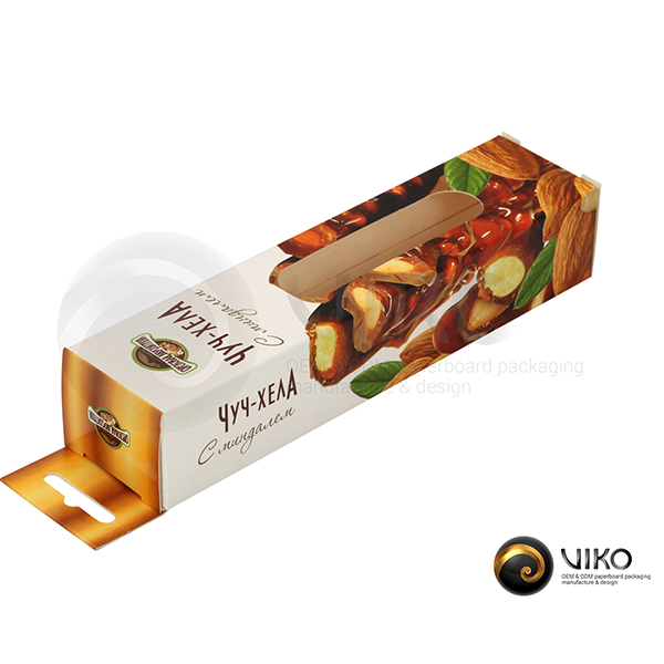 """Картонная упаковка для конфет / Для конфет / Картонная упаковка для конфет """"Чуч-хела"""" 170*40*30 мм"""