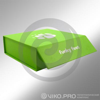 Подарочная упаковка книжка-клапан Funky Feet