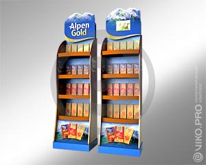 Мультисенсорная торговая стойка Alpen Gold