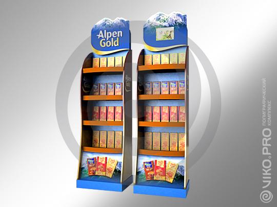 POSM / Стойка / Мультисенсорная / Мультисенсорная торговая стойка Alpen Gold