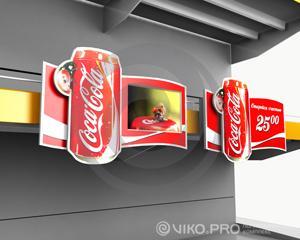 Мультисенсорный ценник (Бренд Coca-Cola)
