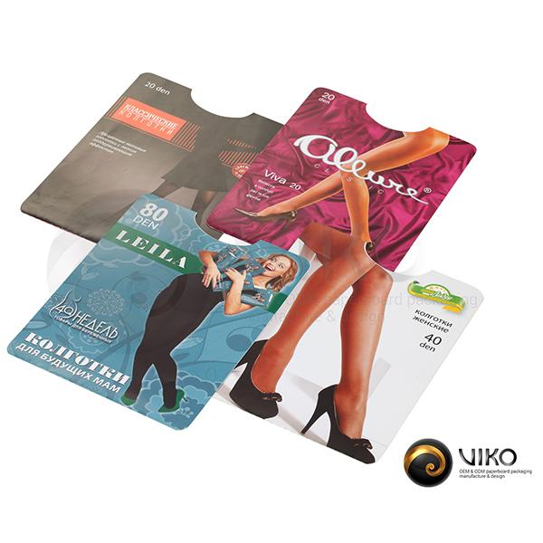 Картонная упаковка для женских колготок