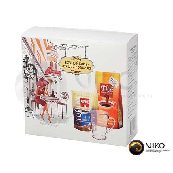 Подарочная упаковка для кофе Атташе 220*210*80 мм