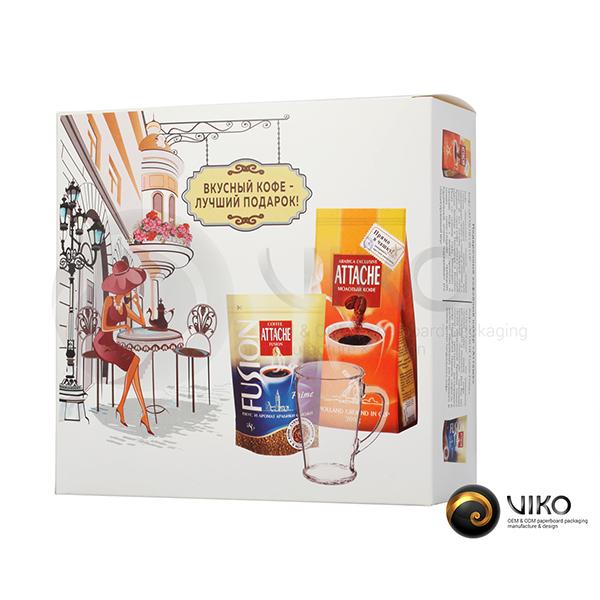Чай и кофе / Подарочная упаковка для чая и кофе / Подарочная упаковка для кофе Атташе 220*210*80 мм