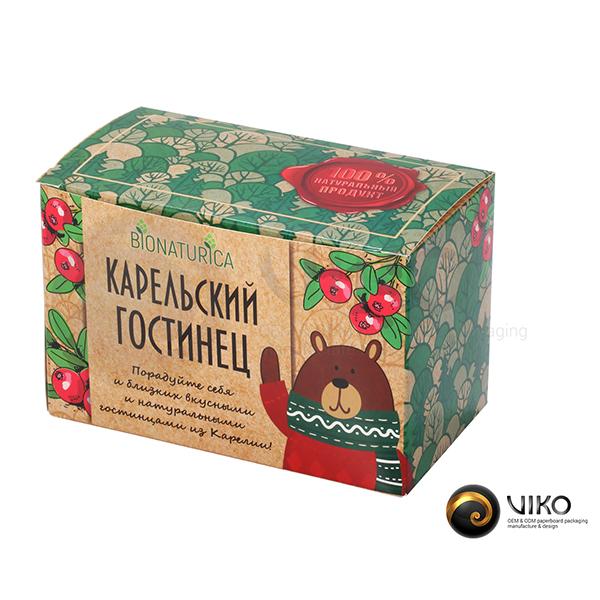Упаковка для чая Карельский гостинец 160*100*90 мм