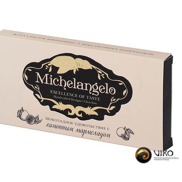 """Картонная упаковка для конфет """"Michelangelo"""" 88*173*20 мм"""