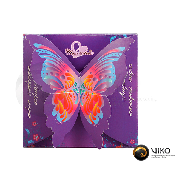 """Картонная упаковка для конфет / Для конфет / Картонная упаковка для конфет """"ШокоЛеди"""" 100*100*60 мм"""
