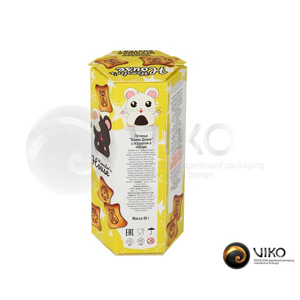 Упаковка для печенья Humster House 135*35 мм (шестигранная)