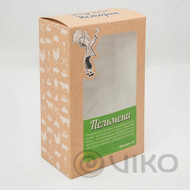 Картонная упаковка для пельменей