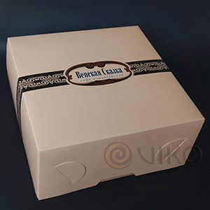 Кондитерская продукция / Для тортов / Картонная упаковка для торта Венская Сказка 265х265х120 мм