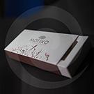 Картонная упаковка для конфет MOTIKO 210х100х35 мм